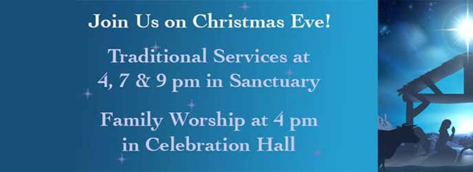 Christmas Eve image with service times